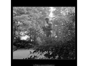 Dívka s jablkem (642-3), Praha 1960 červen, černobílý obraz, stará fotografie, prodej