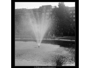 Vodotrysk (646-1), Praha 1960 červen, černobílý obraz, stará fotografie, prodej