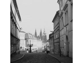Pohled z Loretánské ulice (6238), Praha, 1969 únor
