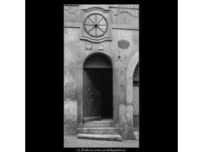 Domovní znamení (648), Praha 1960 květen, černobílý obraz, stará fotografie, prodej