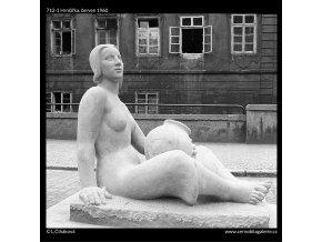 Hrnčířka (712-1), Praha 1960 červen, černobílý obraz, stará fotografie, prodej