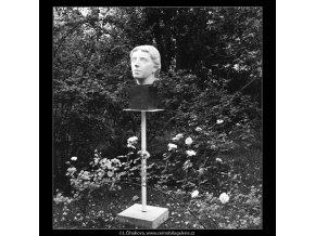 Plastika na Slovanském ostrově (715-1), Praha 1960 červen, černobílý obraz, stará fotografie, prodej