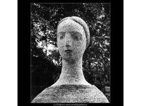 Plastika na Slovanském ostrově (715-2), Praha 1960 červen, černobílý obraz, stará fotografie, prodej