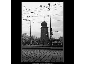Na Jiráskově náměstí (938), Praha 1960 říjen, černobílý obraz, stará fotografie, prodej
