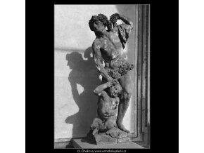 Pískové sousoší (920), Praha 1960 září, černobílý obraz, stará fotografie, prodej