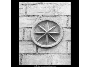 Domovní znamení Černá hvězda (898-1), Praha 1960 , černobílý obraz, stará fotografie, prodej