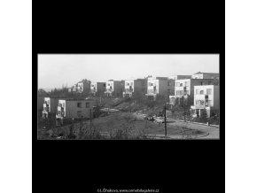 Pohled na vily (1018-6 I), žánry - Praha 1960 prosinec, černobílý obraz, stará fotografie, prodej