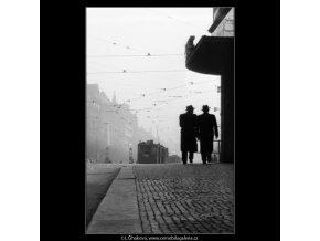 Pohled od Můstku (1025-1), Praha 1960 prosinec, černobílý obraz, stará fotografie, prodej