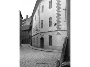 Anenská ulice (1065-2), Praha 1960 prosinec, černobílý obraz, stará fotografie, prodej
