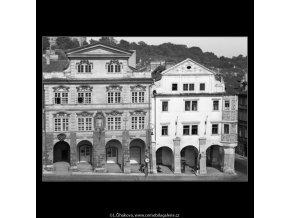 Domy na Malostranském náměstí (1262-1), Praha 1961 leden, černobílý obraz, stará fotografie, prodej