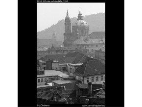 Chrám sv.Mikuláše (1252-1), Praha 1961 , černobílý obraz, stará fotografie, prodej