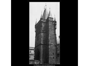Staroměstská věž (1254-2), Praha 1961 , černobílý obraz, stará fotografie, prodej