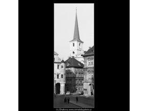 Věž Kostela sv.Tomáše (1261), Praha 1961 , černobílý obraz, stará fotografie, prodej