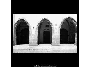 Podloubí v Havelské ulici (1280-1), Praha 1961 , černobílý obraz, stará fotografie, prodej