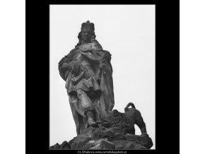 Socha Karlova mostu (1286-2), Praha 1961 , černobílý obraz, stará fotografie, prodej