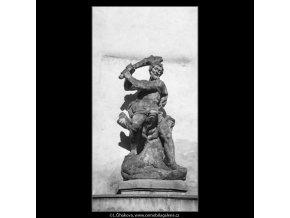 Socha Herkula (1298-1), Praha 1961 , černobílý obraz, stará fotografie, prodej