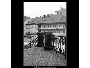 Schodiště na Kampu (1305), Praha 1961 jaro, černobílý obraz, stará fotografie, prodej