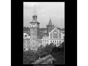 Pohled na Karlovy Lázně (1315-1), Praha 1961 léto, černobílý obraz, stará fotografie, prodej