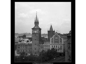 Pohled na Karlovy Lázně (1315-5), Praha 1961 léto, černobílý obraz, stará fotografie, prodej
