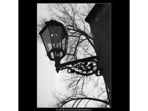 Plynová lampa (1371-1), žánry - Praha 1961 listopad, černobílý obraz, stará fotografie, prodej