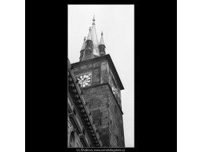 Vodárenská věž (1469-1), Praha 1962 únor, černobílý obraz, stará fotografie, prodej