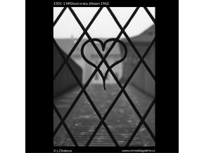 Mřížová vrata (1501-1), Praha 1962 březen, černobílý obraz, stará fotografie, prodej