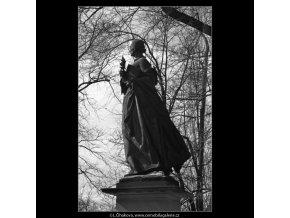 Božena Němcová (1519-2), Praha 1962 březen, černobílý obraz, stará fotografie, prodej