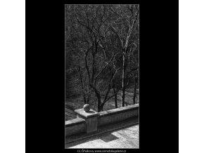 Kamenné zábradlí (1543), Praha 1962 duben, černobílý obraz, stará fotografie, prodej