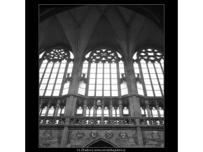 Okna chrámu sv.Víta (1550-1), Praha 1962 duben, černobílý obraz, stará fotografie, prodej