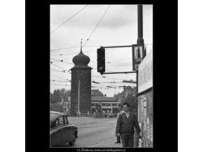 Vodárenská věž (1638), Praha 1962 květen, černobílý obraz, stará fotografie, prodej