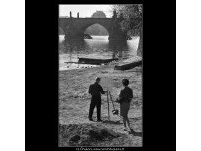 Mladý malíř u vody (1612), žánry - Praha 1962 duben, černobílý obraz, stará fotografie, prodej