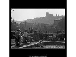 Pískoviště (1665), žánry - Praha 1962 červen, černobílý obraz, stará fotografie, prodej