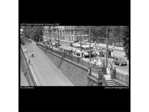 Sobota odpoledne (1671), žánry - Praha 1962 červenec, černobílý obraz, stará fotografie, prodej