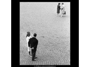 Dvojice (1729), žánry - Praha 1962 červenec, černobílý obraz, stará fotografie, prodej