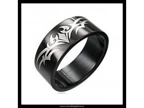 Prsten Ornament black