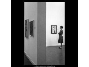 Návštěvníci nové sbírky (1785-5), žánry - Praha 1962 září, černobílý obraz, stará fotografie, prodej