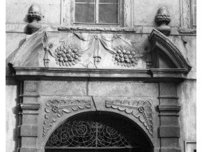 Část portálu (1989), Praha 1963 leden, černobílý obraz, stará fotografie, prodej