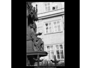 Pomník Karla IV (1963-2), Praha 1962 , černobílý obraz, stará fotografie, prodej