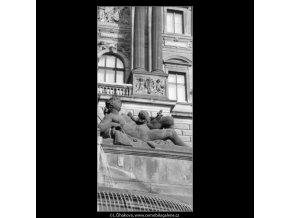 Alegorická plastika (1992), Praha 1963 leden, černobílý obraz, stará fotografie, prodej