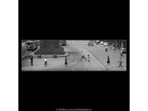 Václavské náměstí (1807), Praha 1962 srpen, černobílý obraz, stará fotografie, prodej