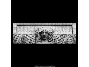 Reliéfní plastika (2075-2), Praha 1963 , černobílý obraz, stará fotografie, prodej