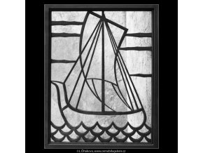 Mřížová plachetnice (2081-1), Praha 1963 , černobílý obraz, stará fotografie, prodej