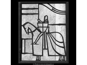 Mřížový rytíř (2081-2), Praha 1963 , černobílý obraz, stará fotografie, prodej