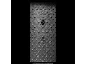 Prašná brána dveře (2123-11), Praha 1963 , černobílý obraz, stará fotografie, prodej