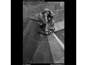 Prašná brána výzdoba (2123-13), Praha 1963 , černobílý obraz, stará fotografie, prodej