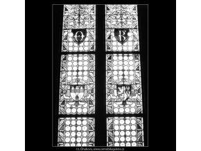 Prašná brána okno (2123-14), Praha 1963 , černobílý obraz, stará fotografie, prodej