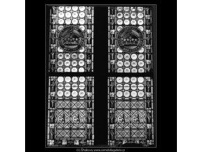 Prašná brána okno (2123-15), Praha 1963 , černobílý obraz, stará fotografie, prodej