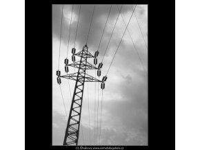 Elektrický stožár (2192), žánry - Praha 1963 květen, černobílý obraz, stará fotografie, prodej