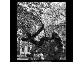 Herakles (2182-1), Praha 1963 květen, černobílý obraz, stará fotografie, prodej