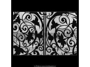 Mříž z věže (2200-1), Praha 1963 květen, černobílý obraz, stará fotografie, prodej